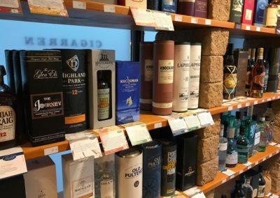 Detailaufnahme unserer schottischen Whiskys